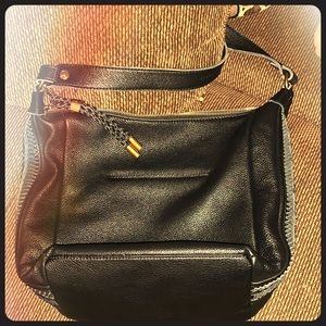 I'm selling a black leather purse